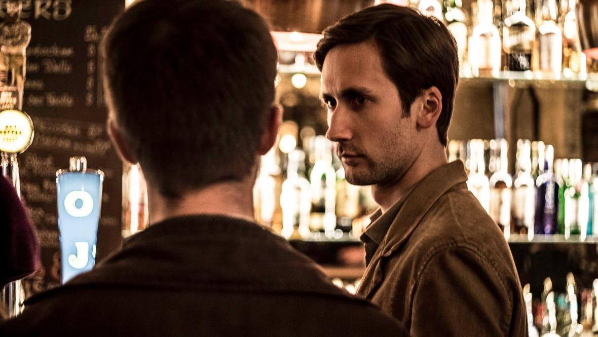 Bar shot with actor Nathan Champion