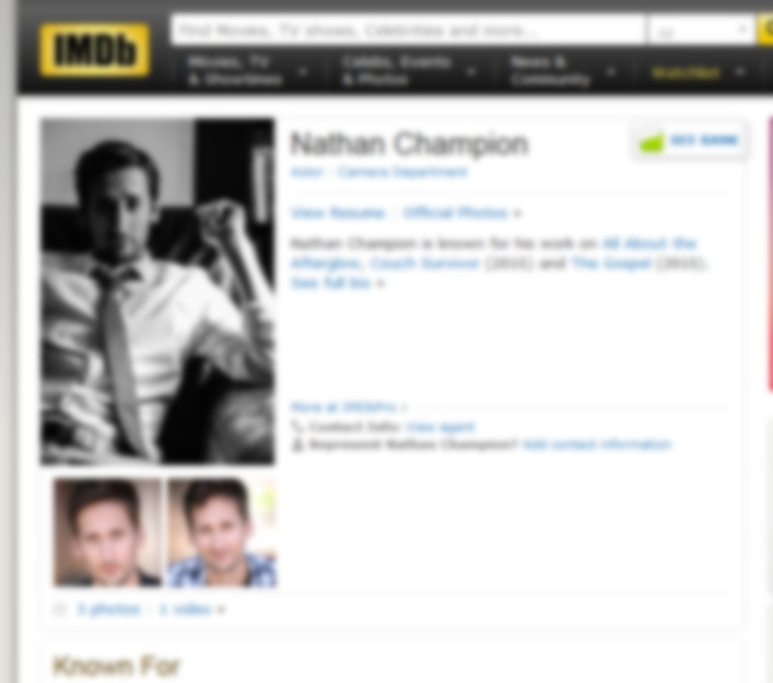 Nate Champion's IMDb profile