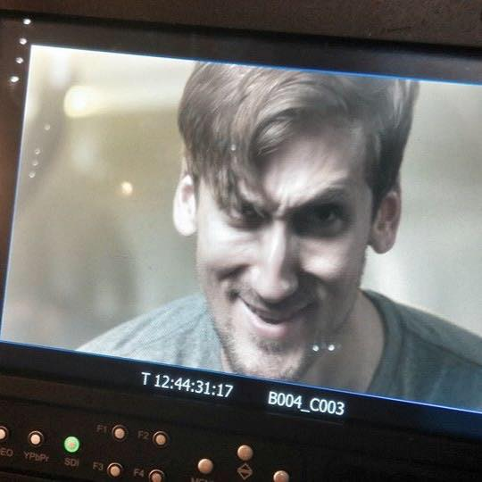 Actor Nathan Champion in a scary role